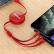PISEN三合一伸縮データ線Apple Android Type-cは、iPhone 11/Xs/SE Sham 10ファウ携帯収納線を1.2 m充電します。
